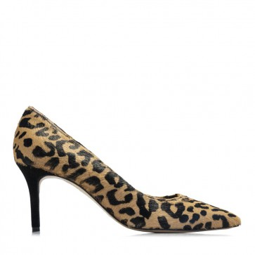 Animal printed leather pumps