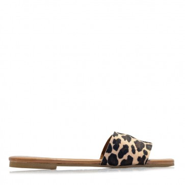 Animal printed mules