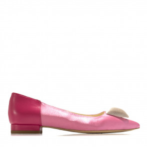 Satin flats with velvet cushion