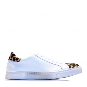 Leather cheetah sneakers