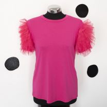 T-shirt tulle fuxia
